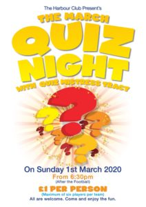 Quiz Night @ the harbour club